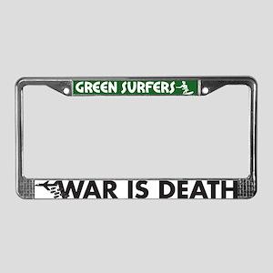 War is Death License Plate Frame
