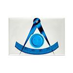 Blue Lodge Past Master Rectangle Magnet (100 pack)