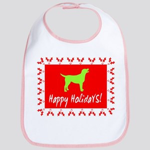 Happy Holidays Labrador Bib