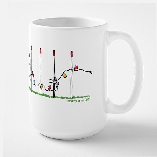 Agility Christmas Lights Large Mug