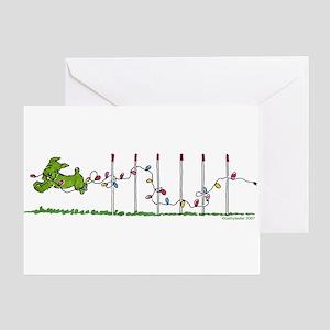 Agility Christmas Lights Greeting Card