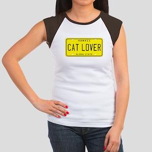 Hawaii Cat Lover Women's Cap Sleeve T-Shirt