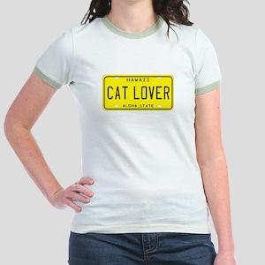 Hawaii Cat Lover Jr. Ringer T-Shirt