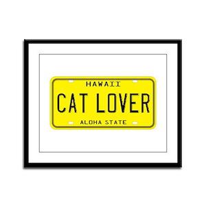 Hawaii Cat Lover Framed Panel Print