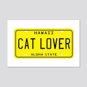 Hawaii Cat Lover Mini Poster Print