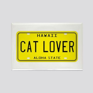 Hawaii Cat Lover Rectangle Magnet