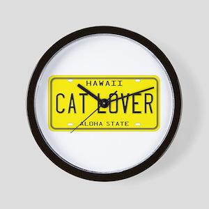 Hawaii Cat Lover Wall Clock