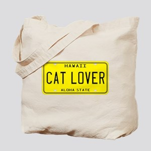 Hawaii Cat Lover Tote Bag