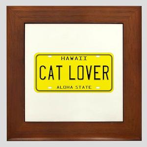 Hawaii Cat Lover Framed Tile
