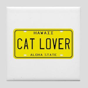 Hawaii Cat Lover Tile Coaster