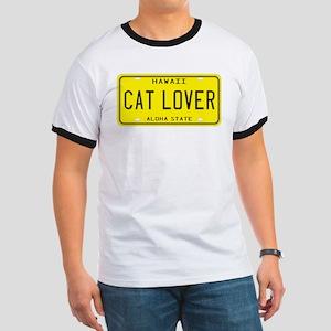 Hawaii Cat Lover Ringer T