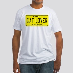 Hawaii Cat Lover Fitted T-Shirt