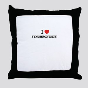 I Love SYNCHRONICITY Throw Pillow