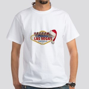 Santa's Hat on LV Sign White T-Shirt