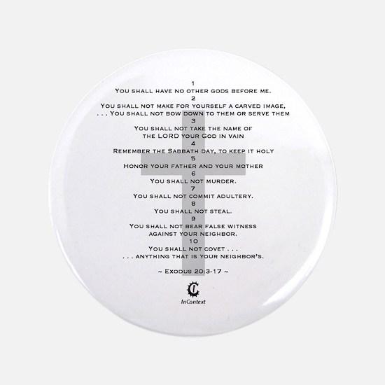 """10 Commandments - 3.5"""" Button"""