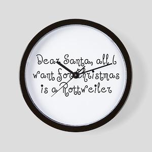 A Rottweiler for Christmas Wall Clock