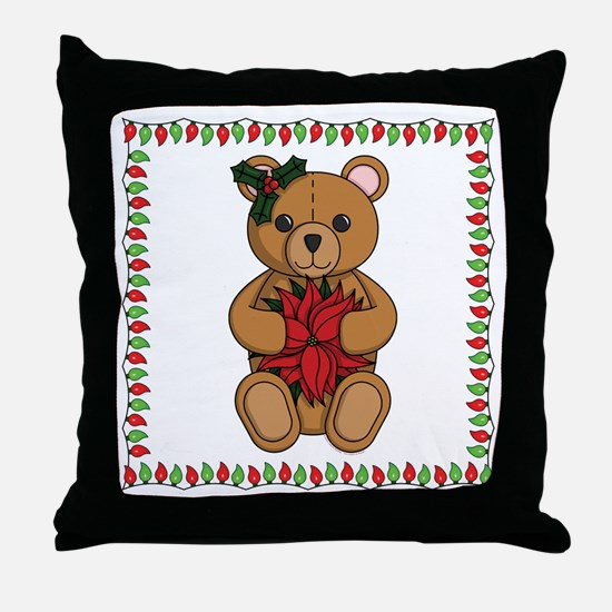 Teddy's Gift Throw Pillow