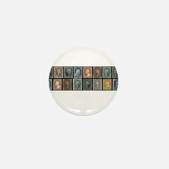 Cute Stamp collecting Mini Button
