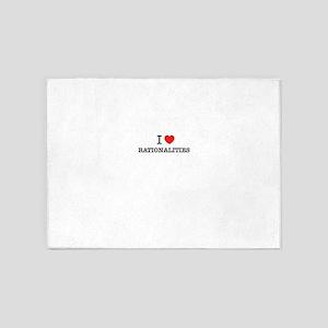 I Love RATIONALITIES 5'x7'Area Rug