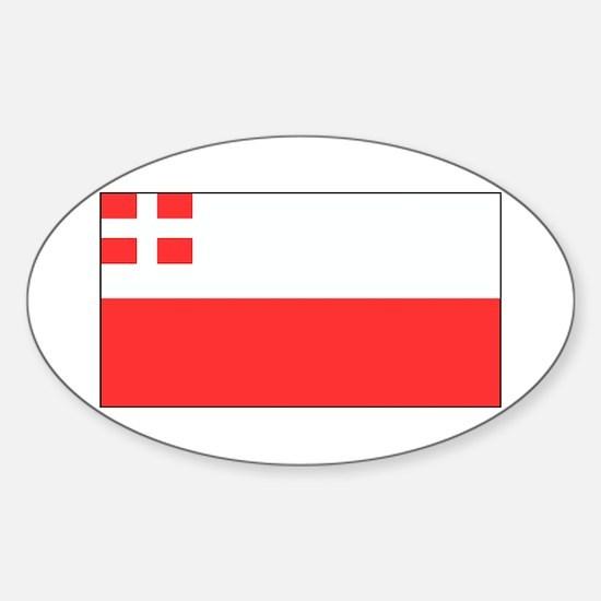 Utrecht Blank Flag Oval Decal