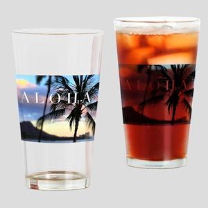 Aloha Sunset Drinking Glass