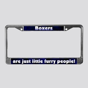 Furry People Boxer License Plate Frame