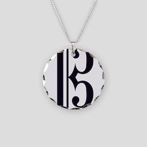 AltoClefSimple Necklace Circle Charm