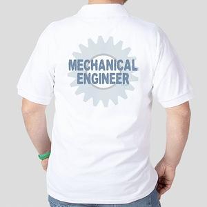 Mechanical Engineer Back Image Golf Shirt