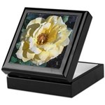 Perfect Yellow Rose Keepsake Box