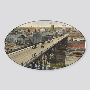 Vintage Youngstown - Market St. Oval Sticker