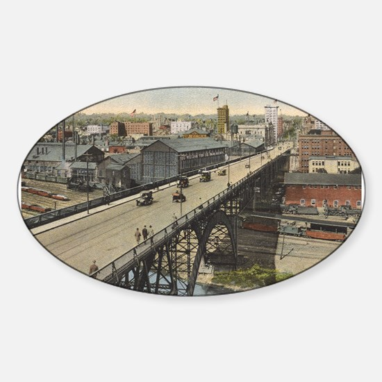 Vintage Youngstown - Market St. Oval Decal