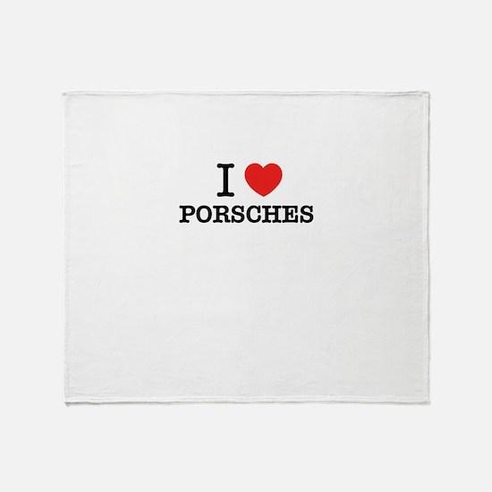 I Love PORSCHES Throw Blanket