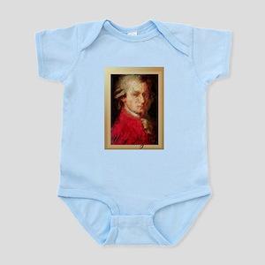 MozartPortraitPastelsVividText Body Suit