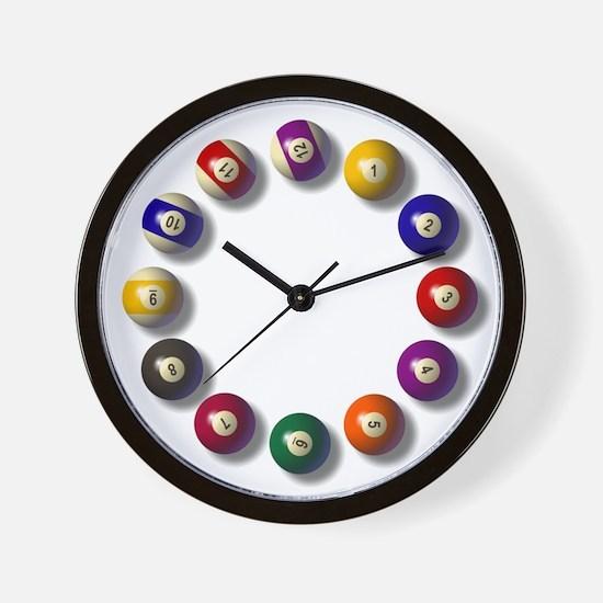 Billiards Round 12 Wall Clock
