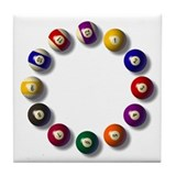 Billiards Tile Coasters
