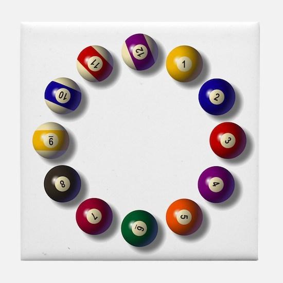 Billiards Round 12 Tile Coaster
