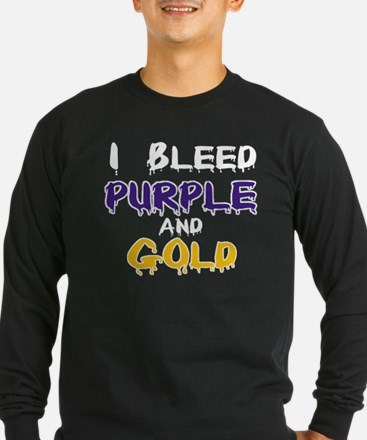 I Bleed Purple and Gold T