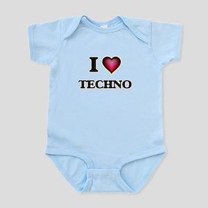 I Love TECHNO Body Suit