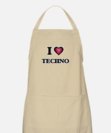 I Love TECHNO Apron