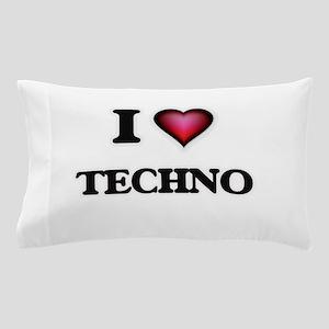 I Love TECHNO Pillow Case