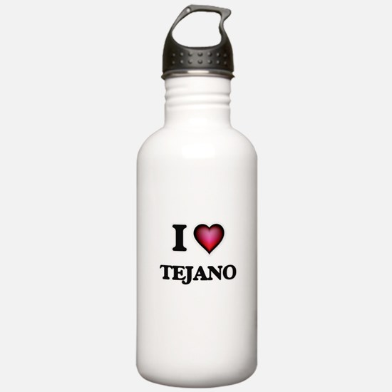 I Love TEJANO Water Bottle