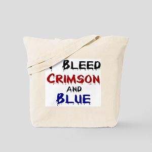 I Bleed Crimson and Blue Tote Bag