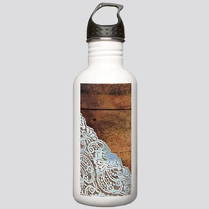 bohemian rustic wood l Stainless Water Bottle 1.0L