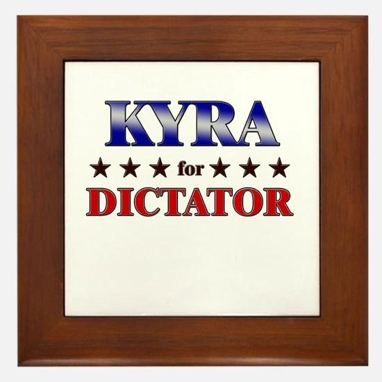 KYRA for dictator Framed Tile