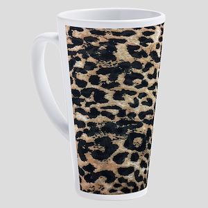 girly safari leopard print 17 oz Latte Mug