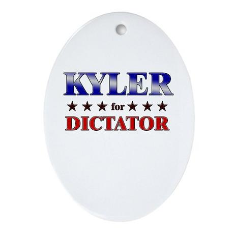 KYLER for dictator Oval Ornament