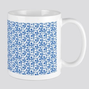 Blue and White Fiel of Daisy Flowers Mugs