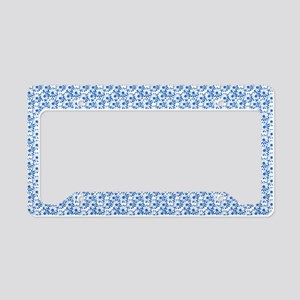 Blue and White Fiel of Daisy License Plate Holder