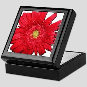 Big Red Zinnia Keepsake Box