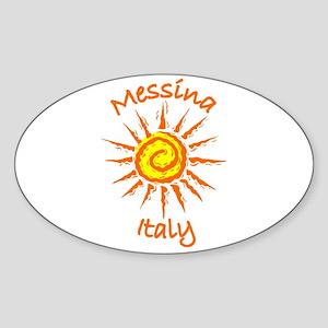 Messina, Italy Oval Sticker